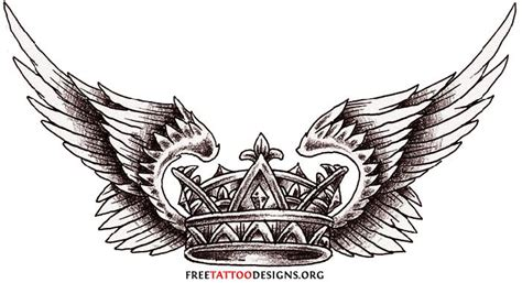 crown with wings tattoo crown images designs