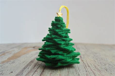 make a 3d felt christmas tree ornament dollar store crafts