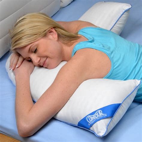 pillow for stomach sleepers contoured l shaped pillow for side sleeping