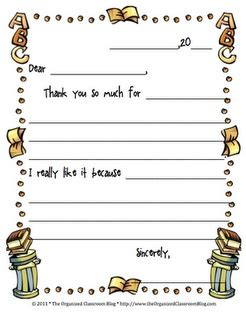 Thank You Note To 4th Grade 19 Best Images About Thank You Note On Free Printables Aliens And