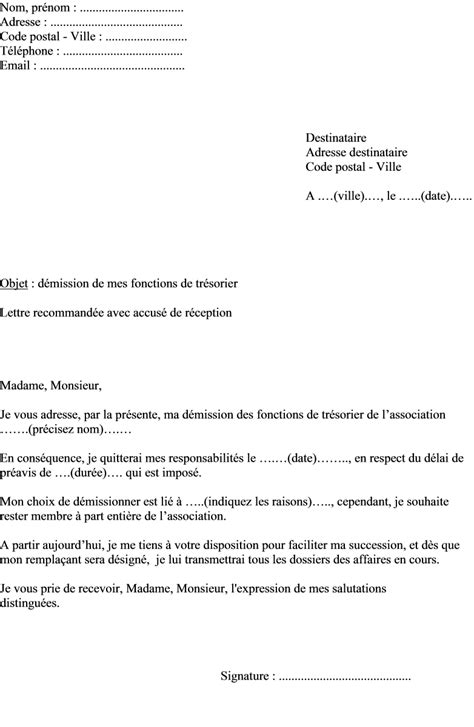 bureau d une association mod 232 le lettre de d 233 mission bureau association exemple