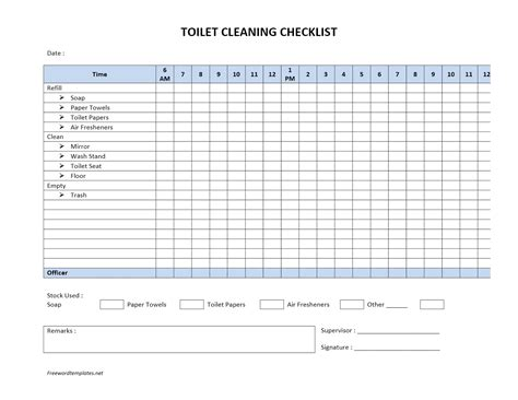 bathroom cleaning schedule template printable restaurant bathroom cleaning checklist
