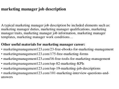 the perfect marketing manager job description proven