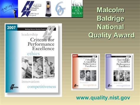 baldrige homepage baldrige national quality program quality philosophies and standards baldrige to six sigma