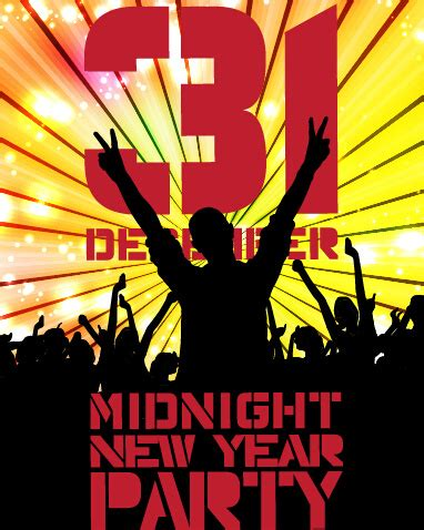 new year 2015 poster free 2015 new year midnight poster vector free