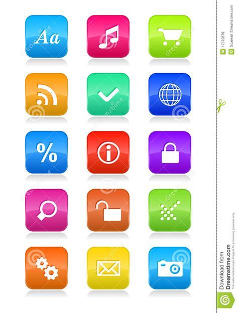 Bantal Mobil Set 8 Bordir Big Black Blue mobile phone interface icons set stock vector image 17872679