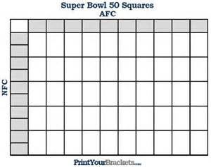 Bowl 50 Squares Template by Printable Bowl Squares 50 Grid Office Pool