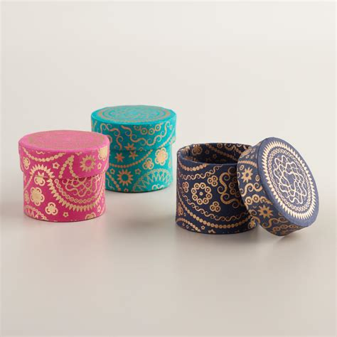 small paisley handmade jewelry boxes set of 3 world market