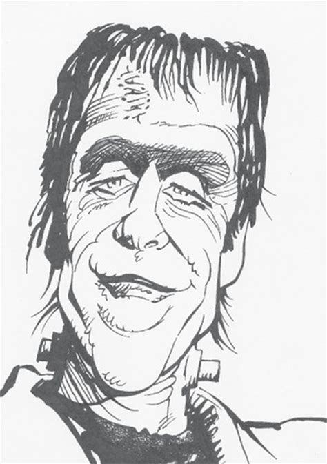 Mort H Drawings by Herman Munster Fred Gwynne After Mort Drucker Room