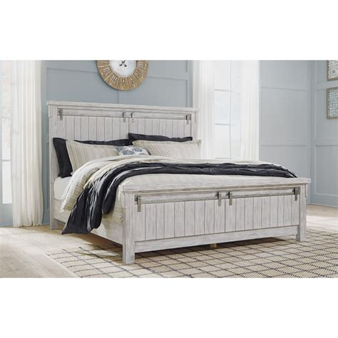 signature design  ashley brashland relaxed vintage queen panel bed royal furniture panel beds