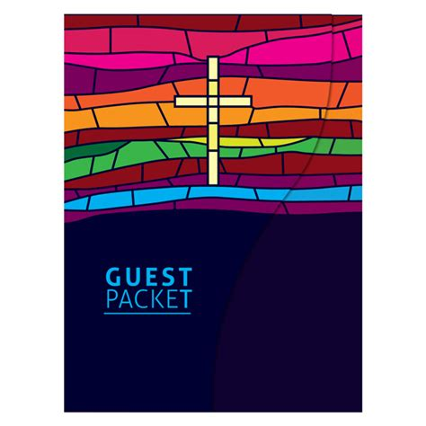 folder template stained glass church guest packet folder