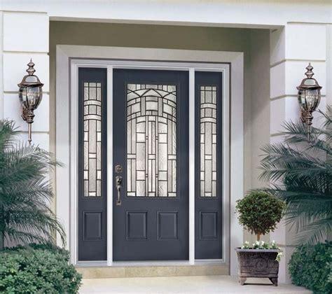 Steel Front Doors With Windows Fiberglass Steel Doors Traditional Exterior Ta