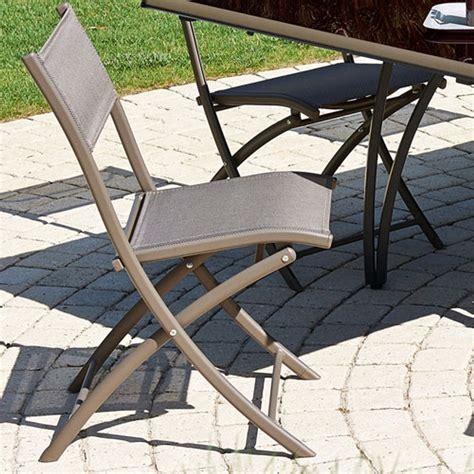 Chaise Pliante Aluminium Textilene by Chaise De Jardin Pliante En Alu Et Textil 232 Ne Cappucino