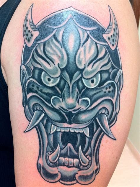oni mask tattoo meaning oni mask japanese ideas