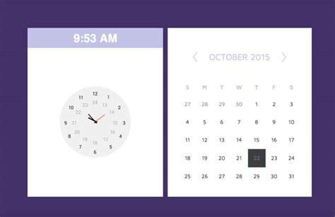 Clock Template Html5 | responsive html5 css3 calendar clock widget free download