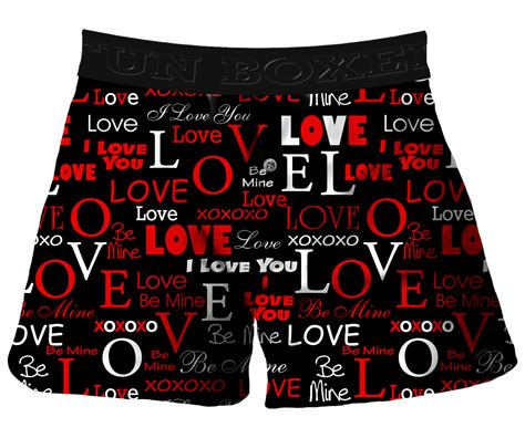valentines day boxer briefs boxer i you valentines day boxer shorts black