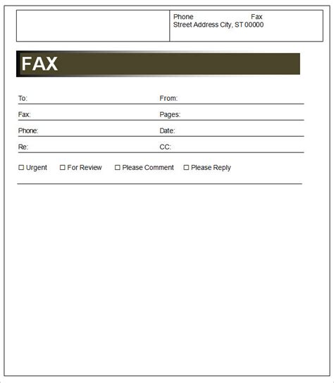 cover sheet template 3 free word documents download
