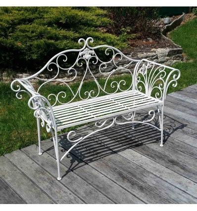 panchina in ferro battuto panchina da giardino in ferro battuto bianco