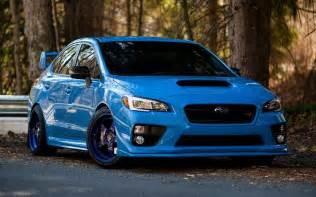 Subaru Tuning Shop Herunterladen Hintergrundbild Subaru Wrx Sti Blau Subaru