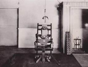 electric chair in the execution by electric chair