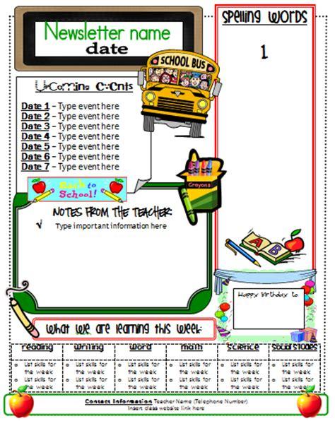 Ginger Snaps Newsletter Template Elementary Newsletter Templates
