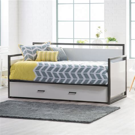 Black And White Daybed Bedding Sets Blue White Bedding Set On The White Wooden Daybed Plus Drawers Placed On The Brown Wooden