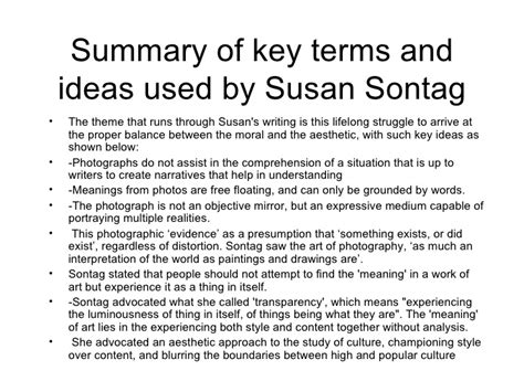 Susan Sontag A Womans Essay Analysis by Susan Sontag Essay On Photography All Time Best Photography Quotes And Sayings Susan Sontag On