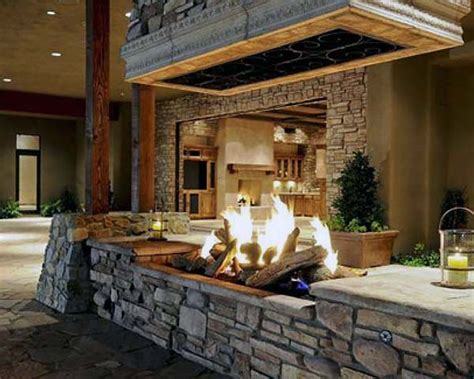 Cool Outdoor Fireplaces by 70 Outdoor Fireplace Designs For Cool Pit Ideas