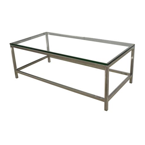crate and barrel glass coffee table 64 off crate and barrel crate barrel era rectangular