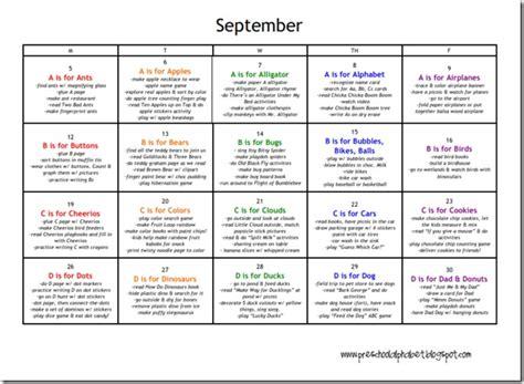 kindergarten activities september preschool alphabet preschool plan for september