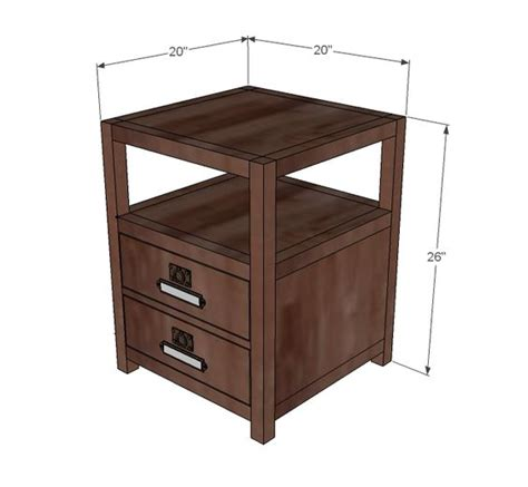 ana white end table with drawer furniture ana white and table plans on