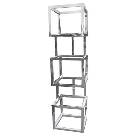 milo baughman cube chrome 200 tager 232 shelves geometric square