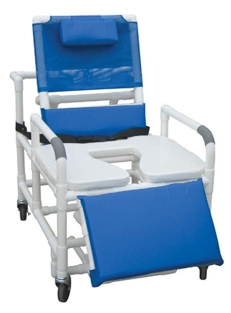 reclining shower chair with footrest reclining pvc shower chair with sliding footrest