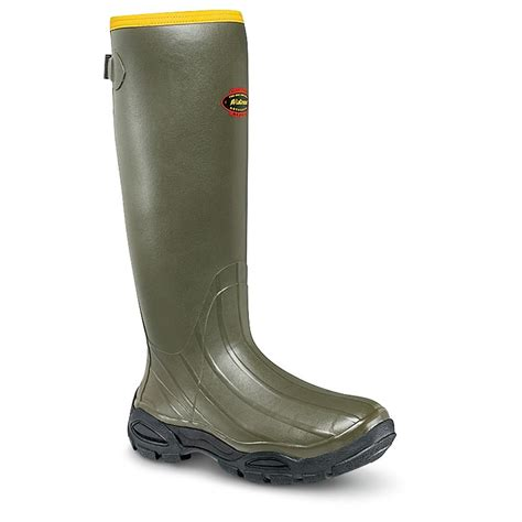 mens rubber boots s lacrosse 174 alphaburly sport 18 quot boots green
