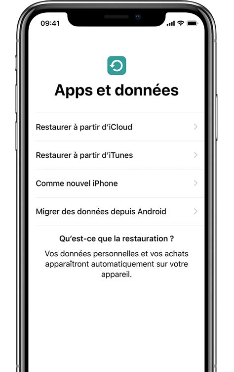 Configuration de votre iPhone, iPad ou iPod touch
