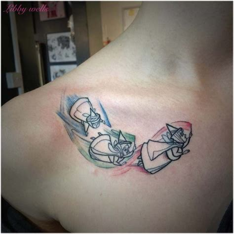 flora fauna and merryweather tattoo best tattoo ideas