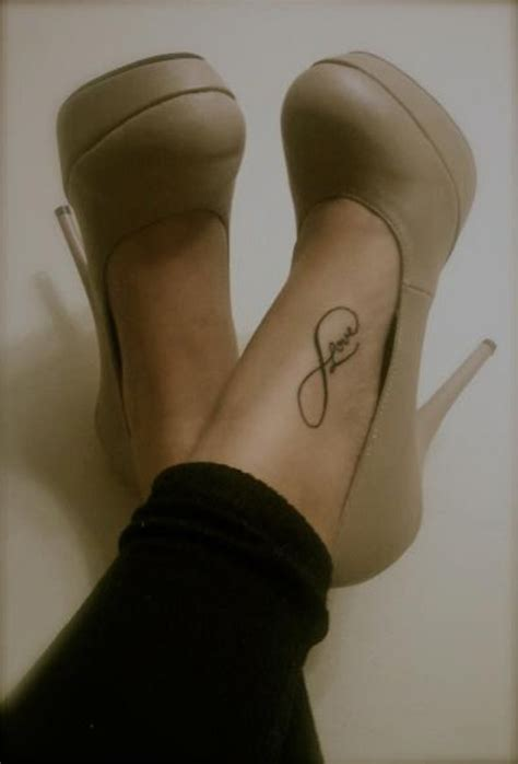love tattoo on foot infinity tattoos and designs page 33