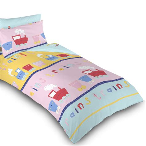 toddler bed blanket trains childrens bedding kids toddler cot cotbed duvet