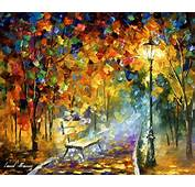 BENCH OF LOST LOVE  Oil Painting On Canvas By Leonid