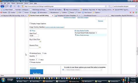 Ebay Templates Auctiva Template Tutorial By Www Ocdesignsonline Com Custom Ebay Template Auctiva Ebay Templates