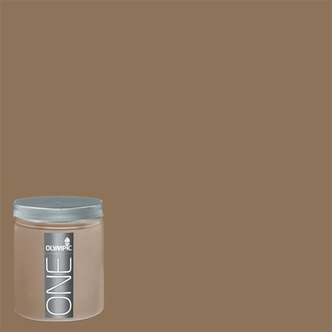 Interior Paint Lowes by Shop Olympic 8 Oz Hat Box Brown Interior Satin Paint