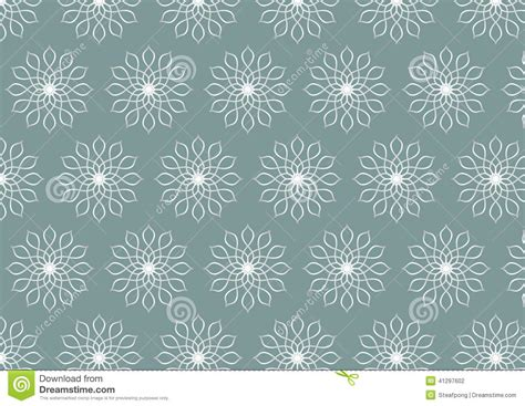 flower pattern modern retro silver flower pattern on pastel color background