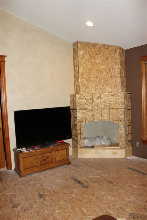 Faux Fireplace Panels by Stunning Stacked Fireplace Build Creative Faux Panels