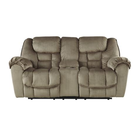 glider reclining loveseat ashley jodoca glider power reclining loveseat in driftwood