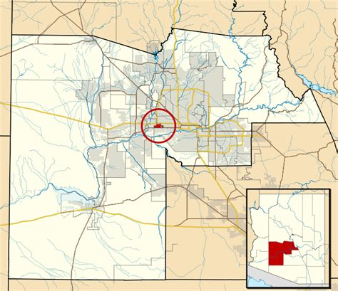 Maricopa County Search File Maricopa County Incorporated And Planning Areas Tolleson Highlighted Svg