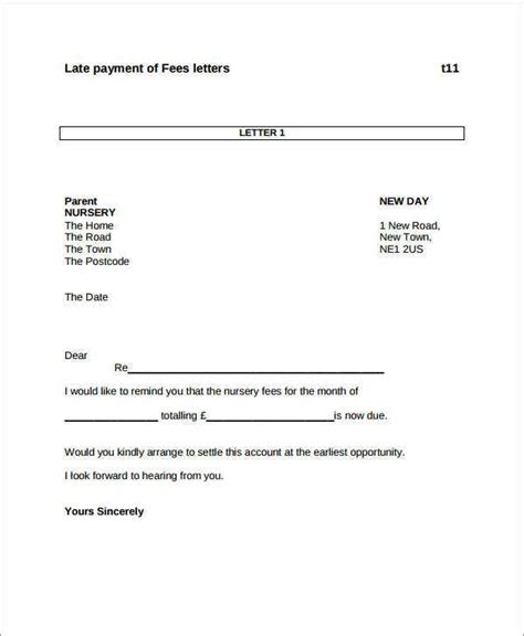 payment letter template documents