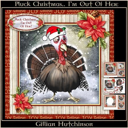 How To Make Pluck Card - pluck christmas i m out of here cup630847 1443 craftsuprint