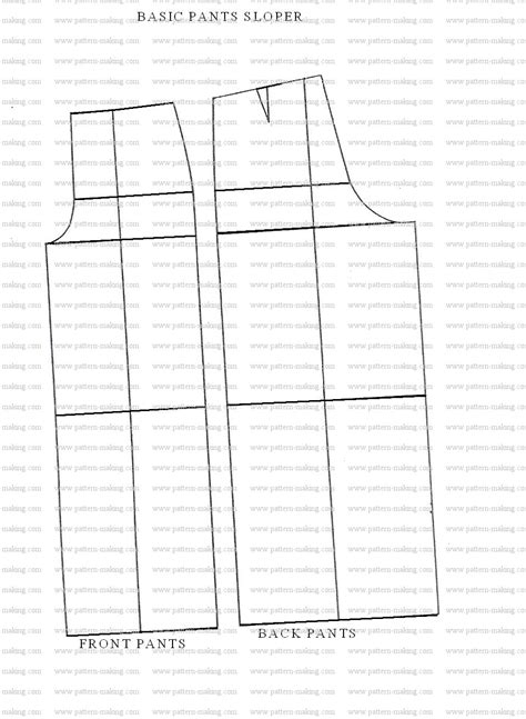 pattern drafting the basic foundation isn t that sew how to draft the basic pants sloper pattern making com