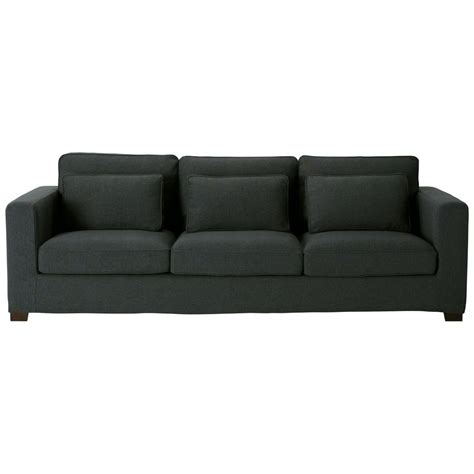 charcoal grey sofa fabric 4 seater sofa charcoal grey milano maisons du monde