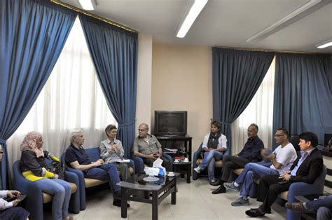 Laila Syari Sy the icrc of delegation in syria visits homs branch syrian arab crescent